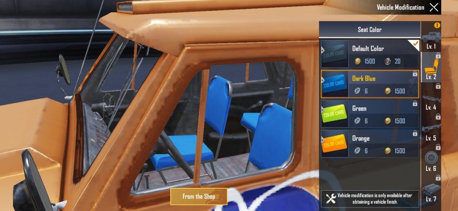 Blue-seat UAZ
