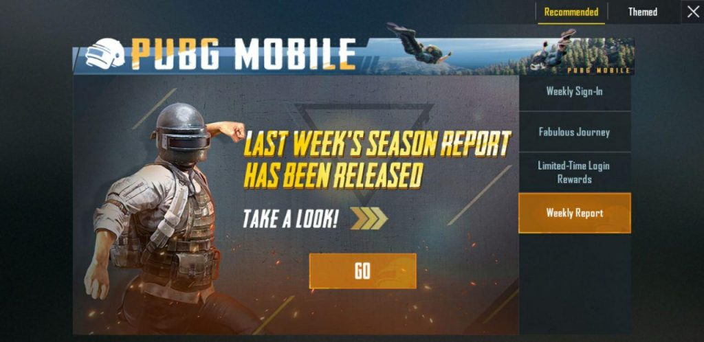 pubg mobile weekly report
