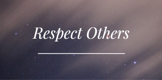 Respect every player